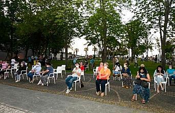 Samsun'da sosyal mesafeli açık hava konseri gerçekleştirildi