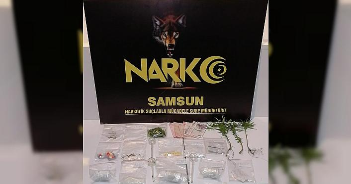 Samsun'da uyuşturucu operasyonlarında 5 şüpheli...