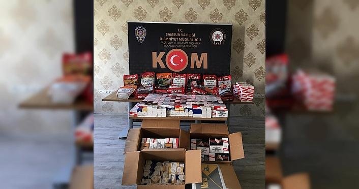 Samsun'daki kaçakçılıkla mücadelede yakalanan...