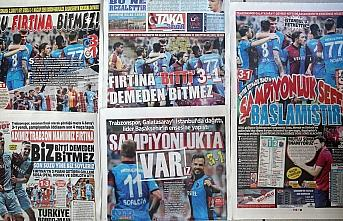 Trabzon yerel basınında Galatasaray galibiyetinin yankıları