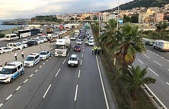Trabzon'da hafif ticari aracın çarptığı yaya...