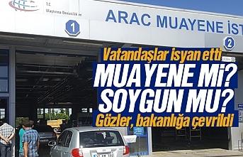 Vatandaşlar araç muayenesinden alınan 420 liraya isyan etti, TÜVTÜRK protesto ediliyor