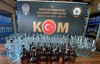Zonguldak'ta sahte içki operasyonunda 1 gözaltı