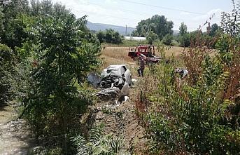 Amasya'da iki otomobil çarpıştı: 1 yaralı