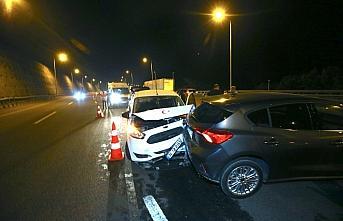 Anadolu Otoyolu'ndaki zincirleme trafik kazasında...