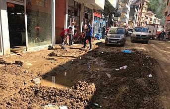 Giresun Doğankent'teki selin yeni görüntüleri...