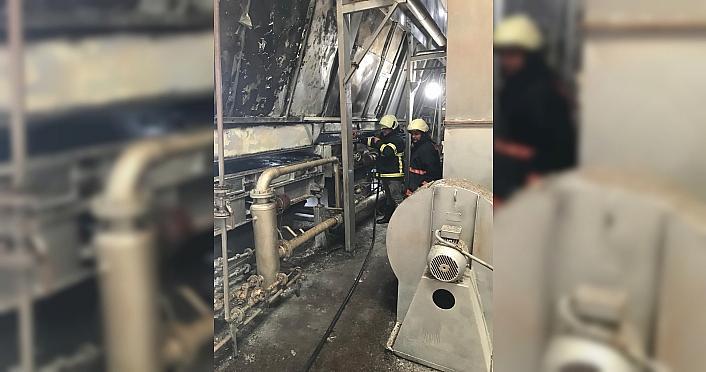 Giresun'da çay fabrikasında çıkan yangında maddi hasar oluştu