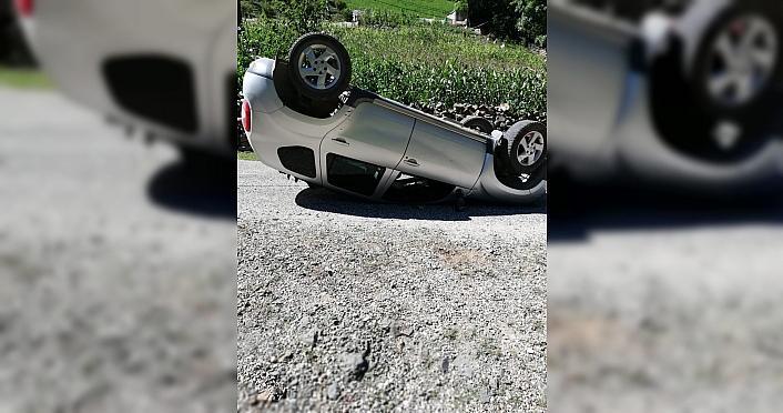 Giresun'da trafik kazasında 2 kişi yaralandı