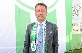 Giresunspor Kulübünün yeni başkanı Hakan Karaahmet...