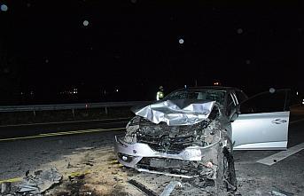 Gümüşhane'de iki otomobil çarpıştı: 1 ölü, 4 yaralı