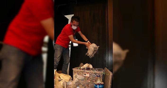 Kastamonu'da öğrenciler bilim kampına topladıkları atık pillerle katıldı