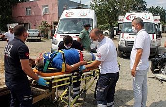 Ordu'da kamyonetle otomobil çarpıştı: 5 yaralı