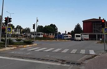 Salıpazarı'na ilk trafik lambası yerleştirildi