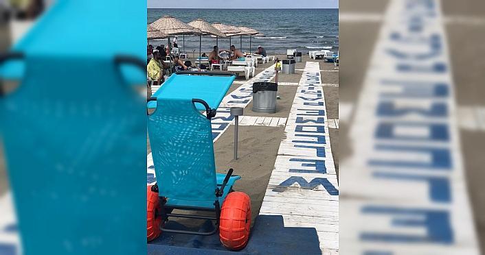 Samsun'da engelsiz plajlar oluşturuldu