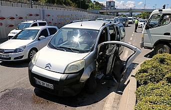 Samsun'da hafif ticari araç ile cip çarpıştı:...