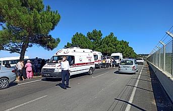 Sinop'ta denizde boğulma tehlikesi geçiren 5 kişi hastaneye kaldırıldı