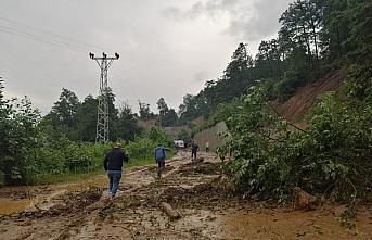 Trabzon'da sel ve heyelanların ardından çalışmalar...