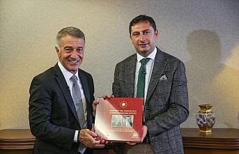 Trabzonspor Kulübü Başkanı Ahmet Ağaoğlu, AA Spor Masası'na konuk oldu (1)