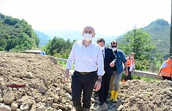 Ulaştırma ve Altyapı Bakanı Karaismailoğlu Tirebolu'da...