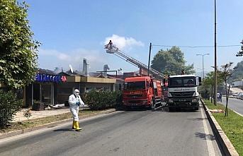 Zonguldak'ta kafede çıkan yangın söndürüldü