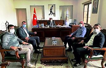 AK Parti Gümüşhacıköy teşkilatından Kaymakam Fırat'a ziyaret