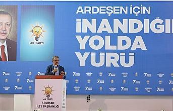 AK Parti'li Yazıcı, partisinin Ardeşen İlçe Başkanlığı Kongresinde konuştu: