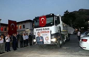 Amasya Belediyesi Giresun'a yardım kamyonları gönderdi
