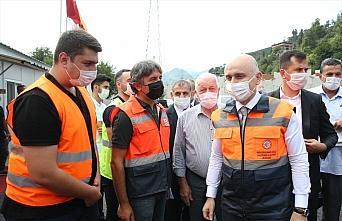 Bakan Karaismailoğlu, Rize-Artvin Havalimanı inşaatında incelemelerde bulundu: