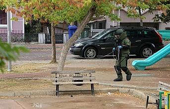 Bolu'da fünyeyle patlatılan şüpheli çantadan...