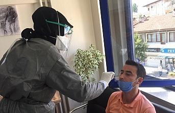 Bolu'da gazetecilere koronavirüs testi yapıldı