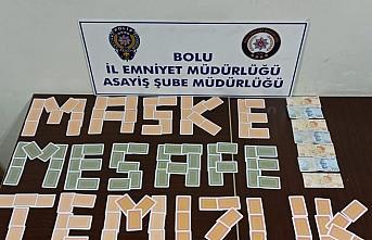 Bolu'da kumar oynayan 7 kişiye para cezası verildi
