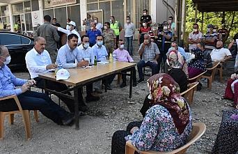 Çevre ve Şehircilik Bakanı Kurum, selden etkilenen Çaldağ köyünde inceleme yaptı
