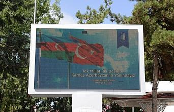 Çorum Belediyesinden Azerbaycan'a bayraklı destek