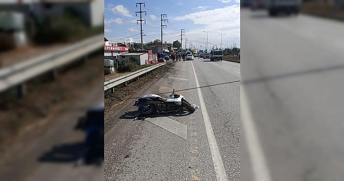 Düzce'de otomobilin çarptığı motosikletli ağır...