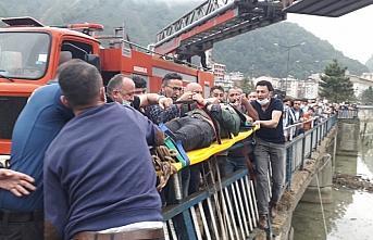 Giresun'da otomobil Doğankent HES Gölü'ne düştü:...