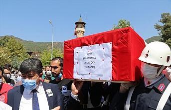 Giresun'daki selde şehit olan Uzman Çavuş Sami...
