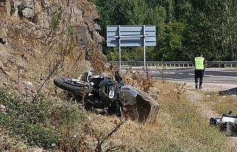Göynük'te devrilen motosikletin sürücüsü yaralandı
