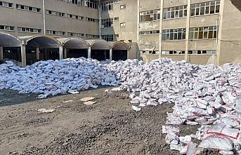 Gümüşhacıköy'de kömür dağıtımı