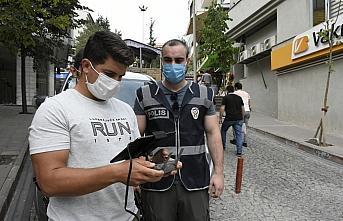 Gümüşhane'de drone destekli maske denetimi başladı