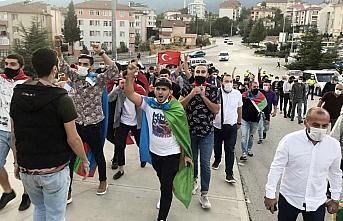Karabük'te Azerbaycan'a destek yürüyüşü