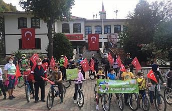 Kastamonu'da bisikletseverler doğa için pedal çevirdi