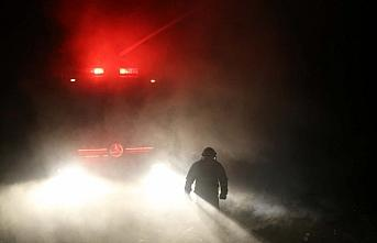 Kastamonu'da köyde çıkan yangında 2 ev, bir garaj yandı