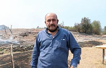 Kastamonu'daki orman yangınını söndürme çalışmaları...