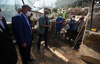 Kültür ve Turizm Bakan Yardımcısı Alpaslan, Düzce'de Konuralp kazı alanını inceledi: