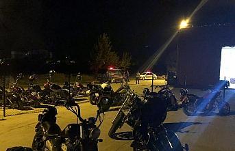 Motosiklet grubu üyelerine Kovid-19 tedbirlerini ihlal cezası