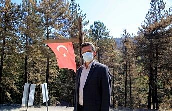 Orman yangını bölgesinde yanmadan bulunan Türk...