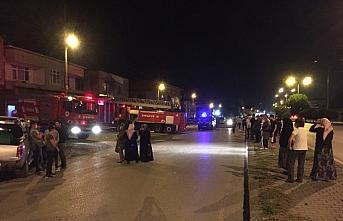 Samsun'da çatı yangını hasara neden oldu
