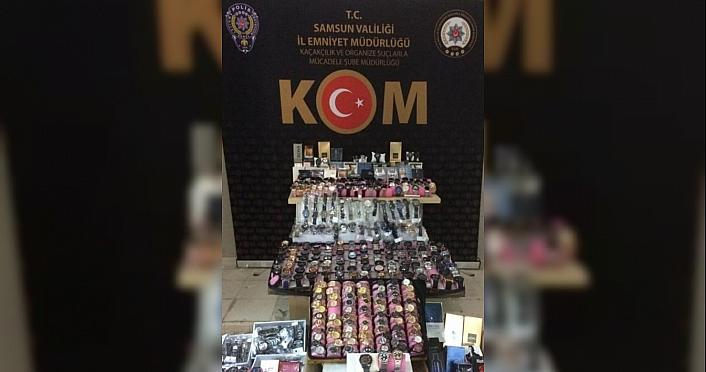 Samsun'da faturasız saat ve parfüm sattığı öne...