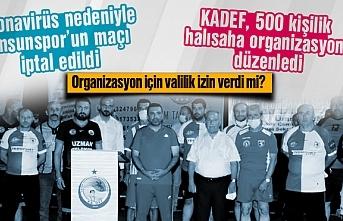 Samsunspor'un maçı korona nedeniyle iptal oldu,...