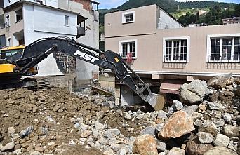 Selin büyük hasara yol açtığı Dereli ilçesinde...